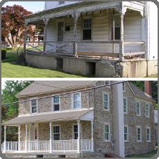 Total Exterior Restoration of 1800 Circa Farmhouse